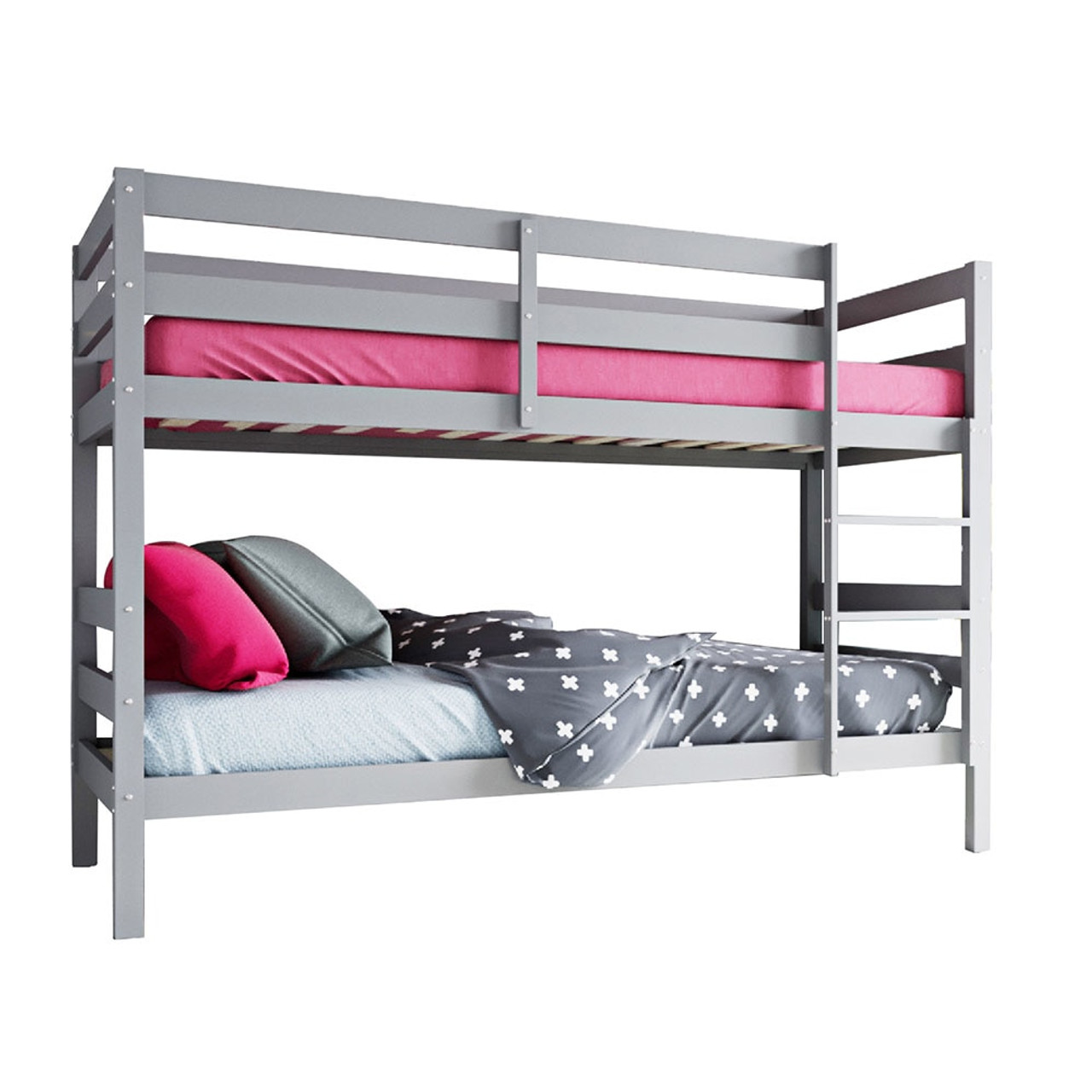 Cato 2 In 1 Twin Convertible Timber Bunk Bed